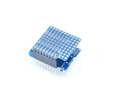 2PCS NEW  ProtoBoard Shield for WeMos D1 mini double sided perf board NEW