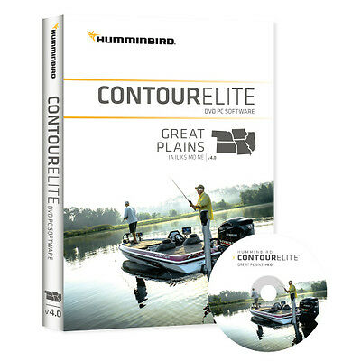 Humminbird Contour Elite - DVD PC Software - Great Plains - Version 4 Map Card