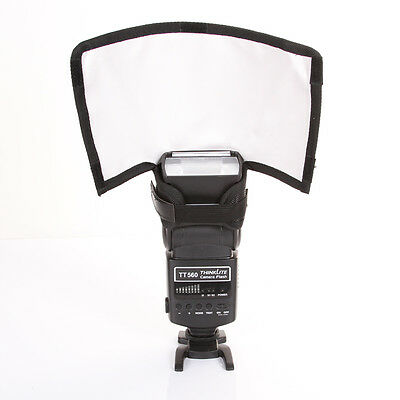 Plegable Flash Snoot Speedlite Softbox Difusor Reflector Bender Pequeño