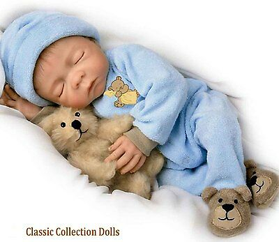 "Ashton Drake ""SWEET JACOB""  LIFELIKE NEWBORN BABY BOY DOLL-NEW-IN STOCK NOW !"