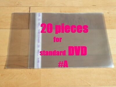 20 pieces Resealable Outer Plastic Sleeves for standard DVD  (type #A)