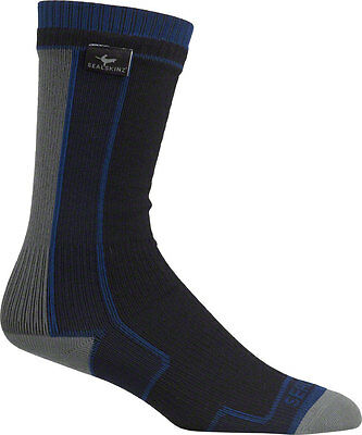 Seal Skinz Thin Mid Length Sock: Gray/Black MD