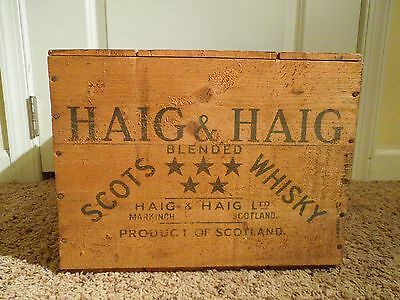 Vintage Haig & Haig Blended Scots Whisky Wooden Crate Product of Scotland