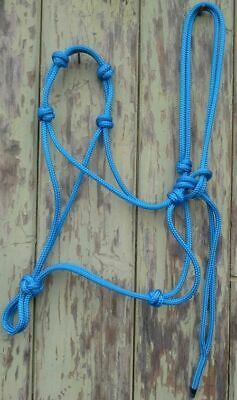 4 Noseband Knot Rope Halter -Standard- Your Choice of Colour Natural Equipment