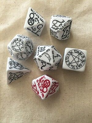 Dice of Awesome Wizard's Gambit - Complete Set of 7 Wizard Dice + FREE Dice Bag