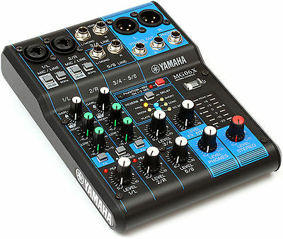 Yamaha MG06X - 6 Channel Analog Mixer with Effects