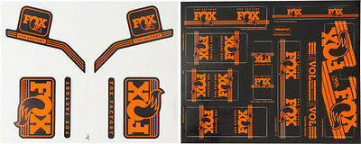 Fox Heritage Decal Kit for Forks and Shocks, Orange