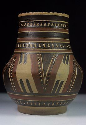 Vintage Poole Pottery Truda Adams Unglazed Ware Egyptian Vase Lev 267 C.1921