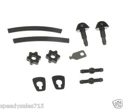 Universal Replacement Windshield Washer Nozzle Kit Fix Repair New Free Shipping