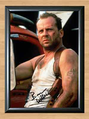 Bruce Willis Die Hard 1 2 Signed Autographed A4 Print Photo Poster Memorabilia I