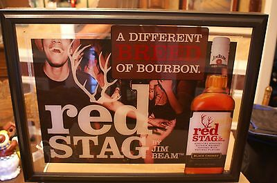 Jim Beam Red Stag Bourbon Bar Lighted Sign NIB