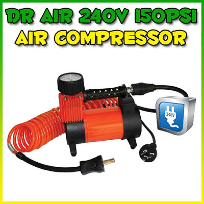 Dr Air 240 V Volt 150Psi 4Wd 4X4 Car Bicycle Tyre Air Compressor Inflator Ac240