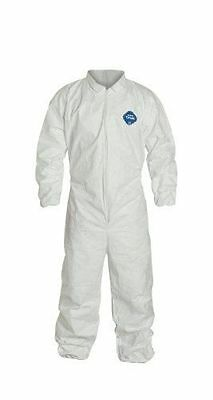 DuPont Tyvek TY125S Disposable Coverall, Elastic Cuff, White, 2XL Pack of 6