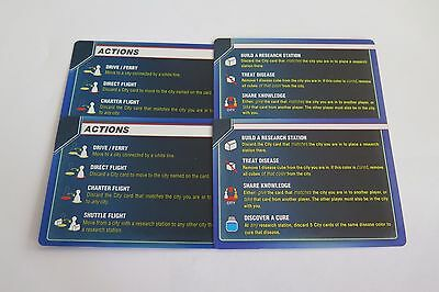 Pandemic Replacement Reference / Summary Card Set 4pc