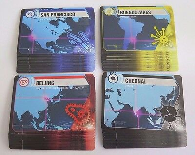 Pandemic Replacement Infection Game Cards Deck 48pc