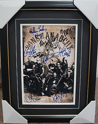 Sons Of Anarchy Signed Photo Framed -  Ron Perlman, Charlie Hunnam