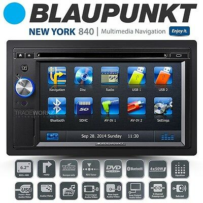 "New BLAUPUNKT New York 840 6.2"" TFT Double DIN GPS Ready Car DVD Player Headunit"