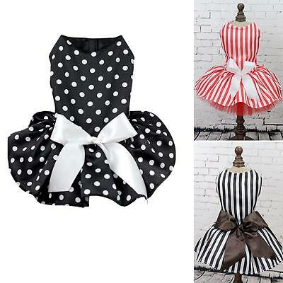 Pet Dog Princess Dress Bow Tutu Skirt Puppy Dog Costume Apparel Clothes