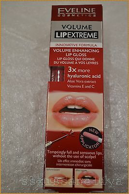 Eveline COSMETICS VOLUME ENHANCING EXTREME LIP GLOSS VOLUME LIP in 5 min,NEW