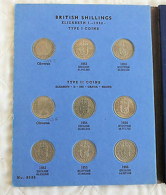 Qeii 1953 To Date Complete Whitman Shilling Collection - 31 Coins All High Grade