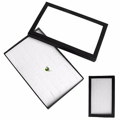 36 Slot Ring Jewelry Display Tray Show Case Organiser Earring Holder Storage Box