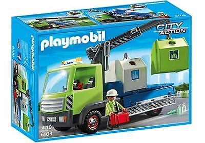 Playmobil Toy Playset - Glass Sorting Truck - 4 Years+ - 6109 - New