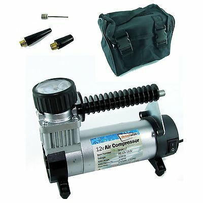 12v 100 PSI Hi Speed Airbed Ball Tyre Air Compressor Inflator Electric Pump
