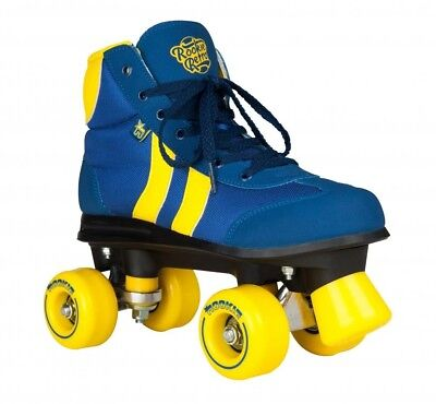 Rookie Retro V2.1  Junior/ Adult Rollerskates Roller Quad Skates - Blue/Yellow