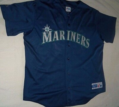 MLB : Vintage Ken Griffey Jr Seattle Mariners Majestic Jersey - Size XL New Rare