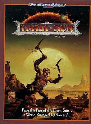 DARK SUN CAMPAIGN SETTING w/POSTER EXC+! AD&D D&D TSR Boxed Set Dungeons Dragons