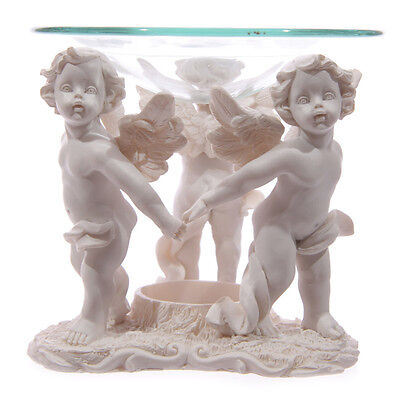 Dancing Cherub Holding Hand Home Fragrance Aroma Oil Burner Wax Gift Decor CHE34