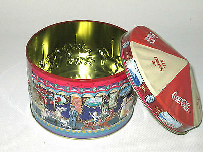 1997 Coca-Cola Brand Embossed Carousel Tin - All Rides 5 Cents Coca-Cola