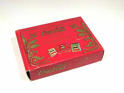 Coca-Cola Old Fashioned Tin and 2 Deck Card Set Pad Pencil