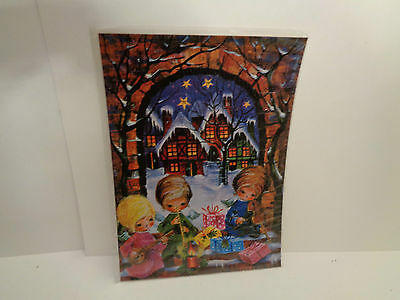 Vintage  Adventskalender J.+H. Adam Engel musizieren  Nr.206 Printed in Germany
