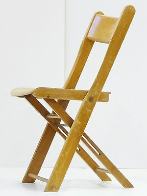SUPERB CHAIR FOLDABLE SEAT WOOD CURVED 1950 VINTAGE 50's -9 UNITS avail.
