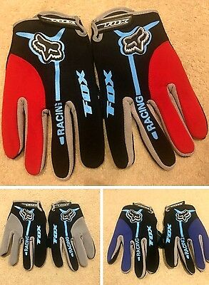 FOX Full Finger Cycling Gloves Breathable Mountain/Bike/Bicycle Racing MTB BMX