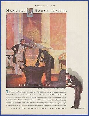 Vintage 1931 MAXWELL HOUSE Coffee General Foods RARE Art Decor Print Ad 1930's