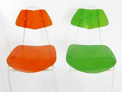 Superb Pair Of Chairs Fiber Glass 1950 : Work French Of Years 50