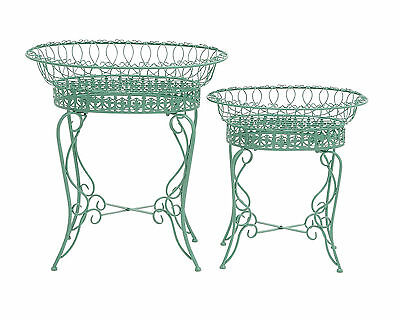 The Intricate Set Of 2 Metal Plant Stand