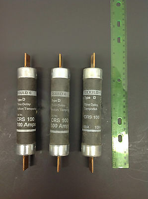 Crs 100 Gould 100A 600V Time Delay Type D Lot Of 3 **tested** (D965)