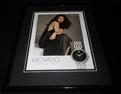 Alexandra Daddario 2016 Movado Watches Framed 11x14 ORIGINAL Advertisement B