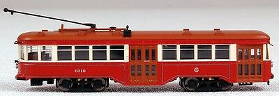 Bachmann N Scale Train Peter Witt Trolley DCC Equipped Chicago Surface 84652