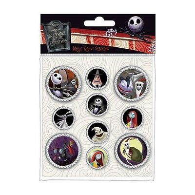 Adhesives Nightmare Before Christmas Metal Edged Stickers Set Ss0015