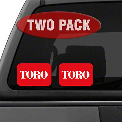 "TORO Logo - TWO PACK - 5.5"" Tractor Implement Cart Mower Logo / Decal / Sticker"