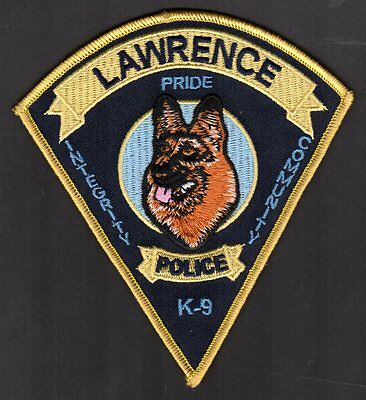 Lawrence Indiana Police Shoulder Patch = K-9