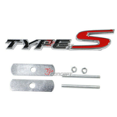 3D Metal TypeS Type S Front Grill Racing Emblem Badge Decal Sticker For Acura