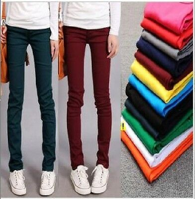1PC Women Candy Pencil Stretchy Pant Fit Tight Skinny Jeans Jegging Trousers