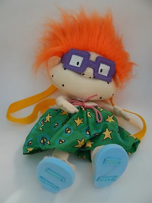 Vintage Rugrats Chuckie Backpack Soft Plush Toy 1999 Viacom