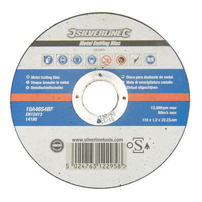Silverline 261053 Metal Cutting Disc OSA Accredited115 x 1.2 x 22.23mm