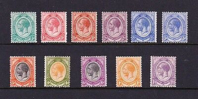SOUTH AFRICA 1913-24 SET TO 1/3d SG 3-13 MINT.